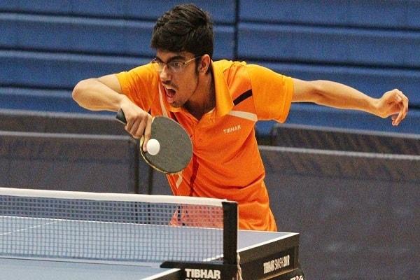 manav Thakkar Junior World Table Tennis in quarter-finals