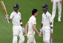 Virat Kohli and Ajinkya Rahane Half century in ind v aus 2nd test