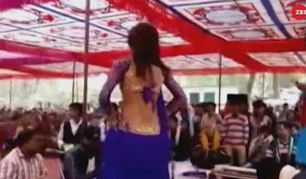 Bar girls dance in a school premises in ballia