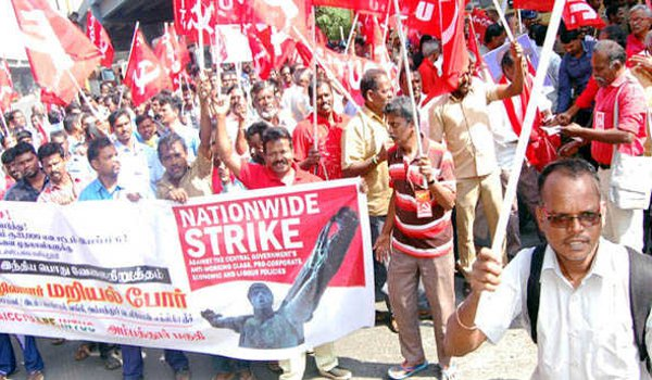 Trade unions strike evokes mixed response on Day 1