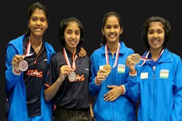बहरीन ओपन टेटे में भारतीय लड़कियों ने जीते 4 पदक