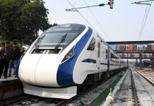 Vande Bharti Express stops on the way during return