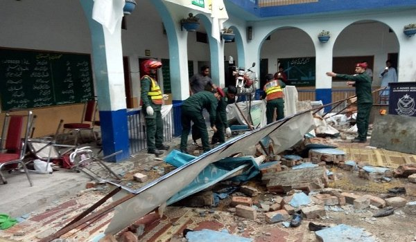 six killed, 13 injured as school wall collapses in Pakistan