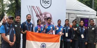 Indian women compound team wins bronze medal