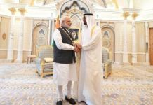 PM Narendra Modi conferred with UAE highest civilian award