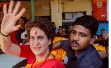 priyanka-gandhi-vadra-visit-varanasi-to-meet-somnath-mandir-victim