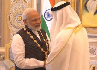 pm narendra modi conferred with order of zayed by crown prince
