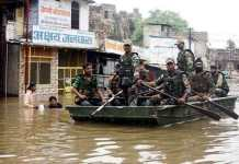 Kota floods caused havoc, army engaged in relief and rescue operations