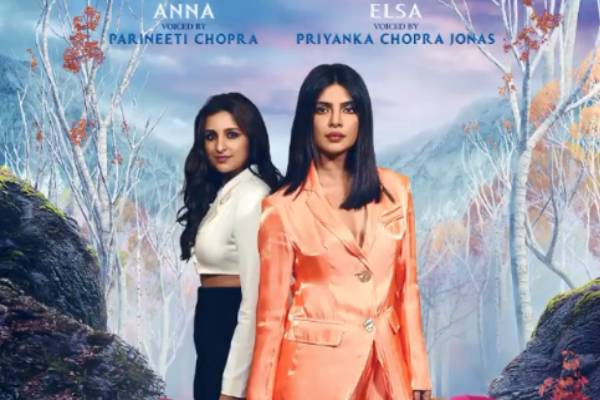 Priyanka and Parineeti gave voice to the Hindi version of Frozen 2
