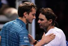 Rafael Nadal defeated Daniil Medvedev in ATP Finals Tennis Tournament
