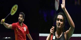 pv Sindhu and Srikanth in second round of Hong Kong Open Badminton Tournament