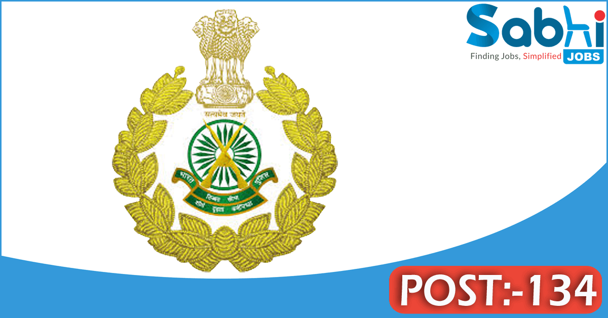ITBP recruitment 2018 notification 134 Constable