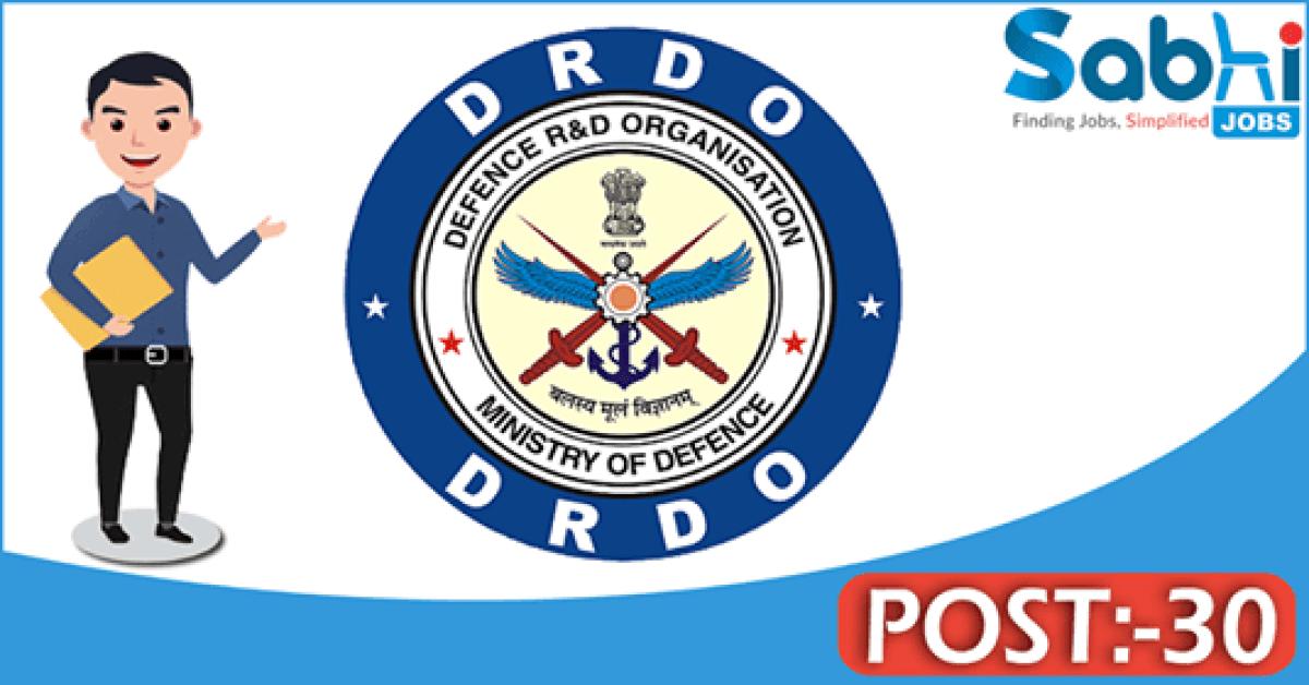 DRDO recruitment 2018 notification 30 Technician (Diploma) Apprentice