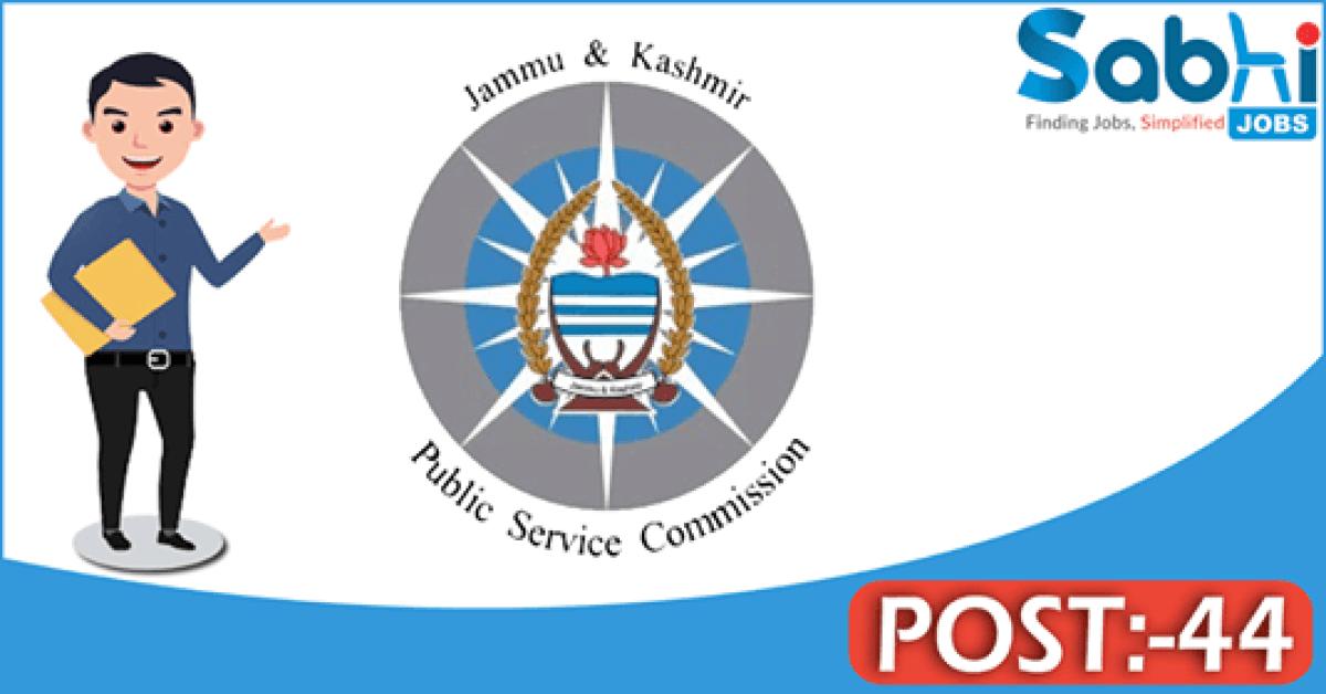 JKPSC recruitment 44 Range Officer Grade-I Forest