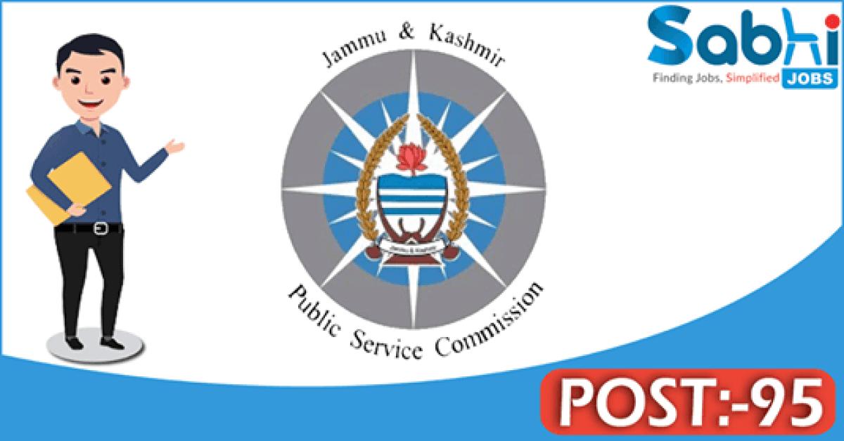 JKPSC recruitment 95 Consultant