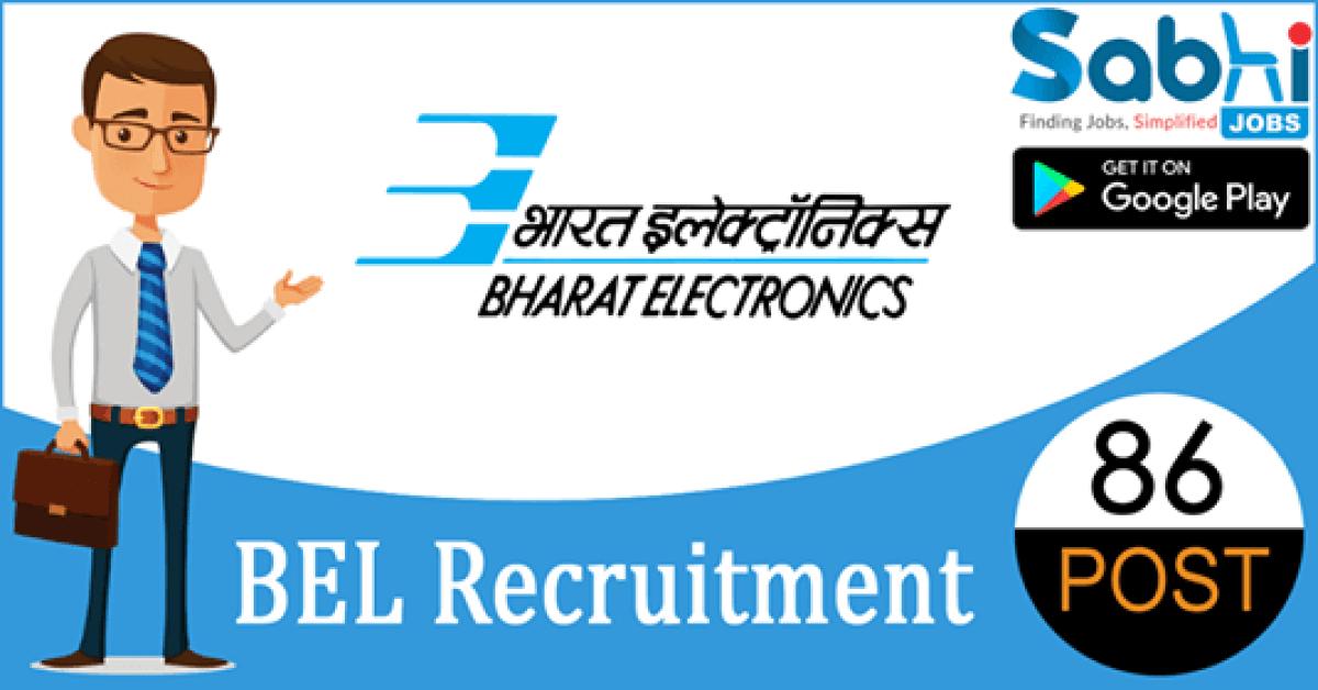 BEL recruitment 86 Deputy Engineer