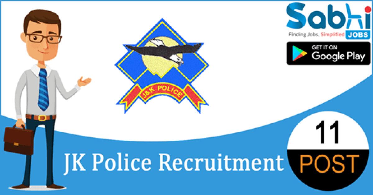 JK Police recruitment 11 PGT, Librarian