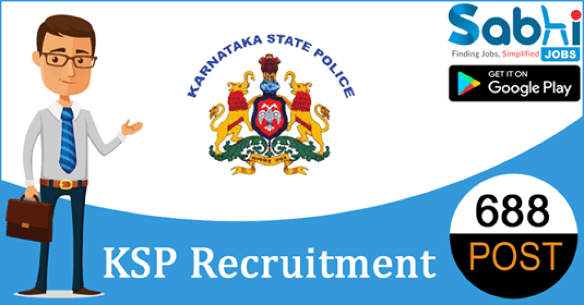 KSP recruitment 688 Armed Police Constable