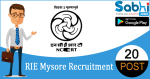 RIE Mysore recruitment 2018-19 notification apply for 20 Nursery School Teacher, Assistant Professor & Various vacancies