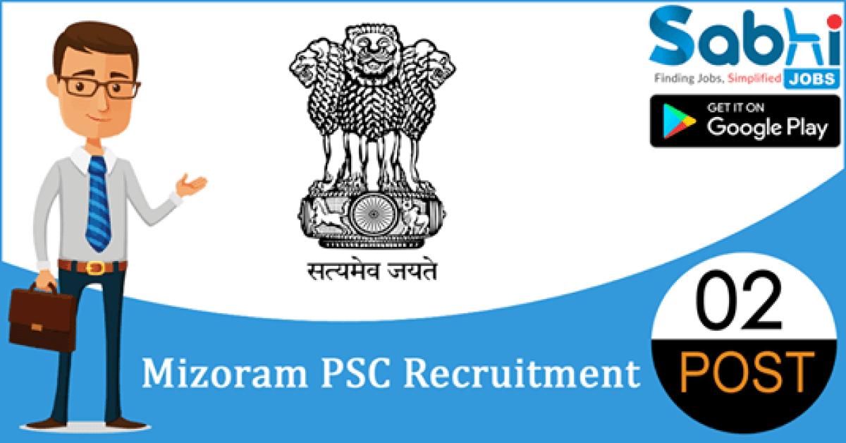 Mizoram PSC recruitment 02 Upper Division Clerk