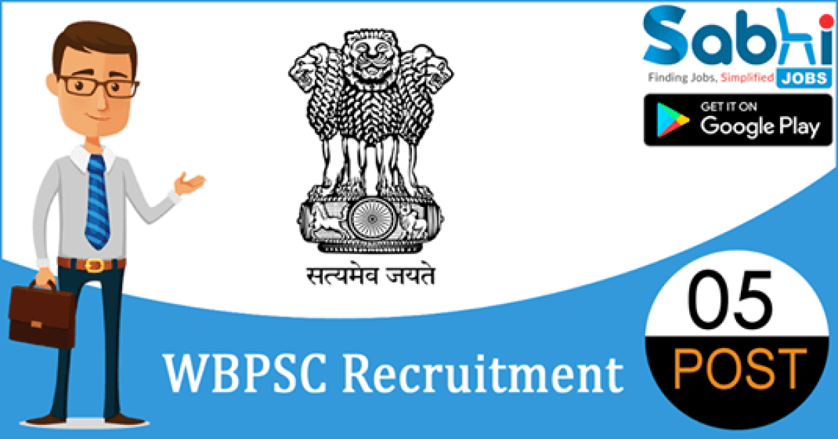 WBPSC recruitment 05 Joint Director