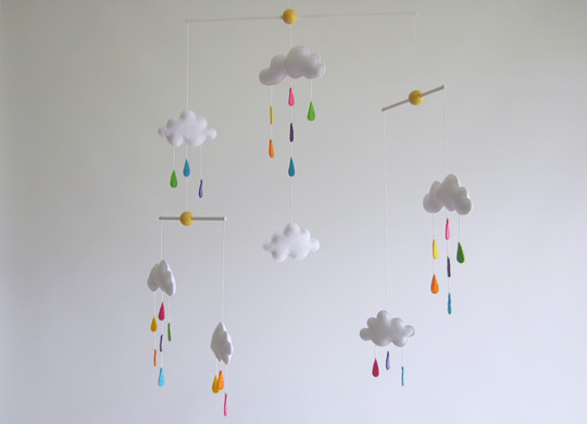 Sabine Design Mobiles Enfants Mobile Nuages