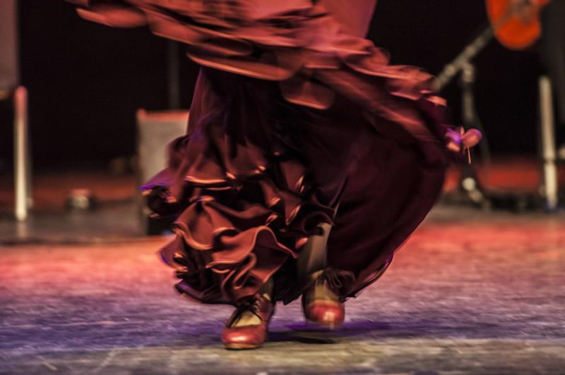 Flamencotanz (Rock und Schuhe)