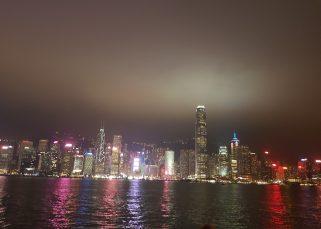 hongkong city view by night