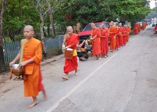 monks luand prabang laos