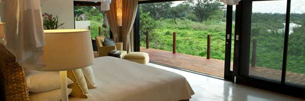 Lion Sands River Lodge-Lodge Interior Luxury Bedroom View Carousel