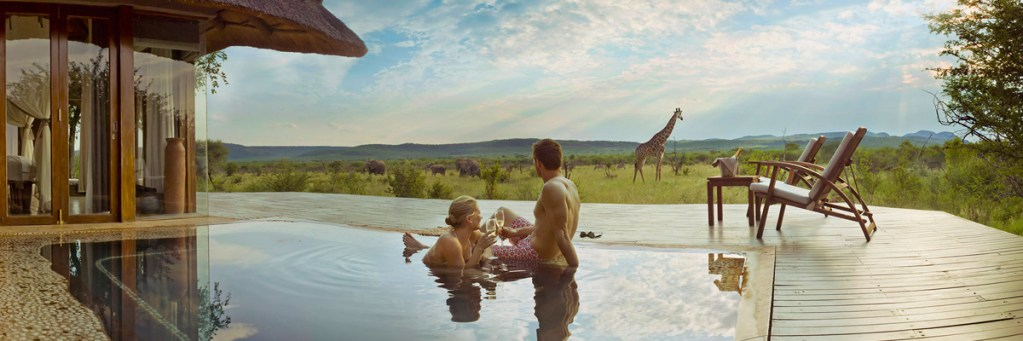 Lion Sands Game Reserve Honeymoon Couple Swimming
