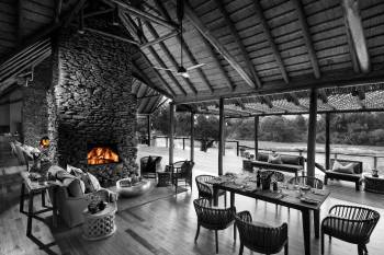 Narina Lodge Fireplace