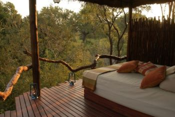 Simbambili Game Lodge Deck View