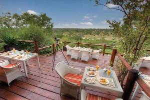 Leopard Hills Private Game Reserve Deck Dining