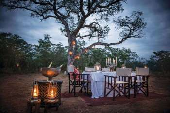 Dulini Lodge Evening Dining View