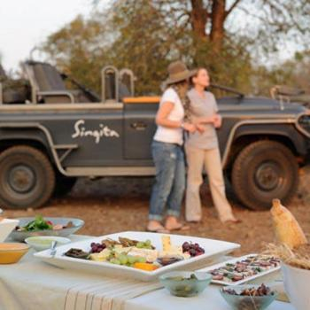 Singita Castleton Accommodation Activities Game Drive Snacks