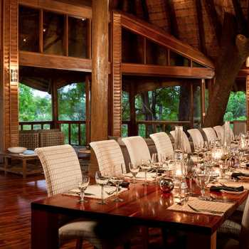 Ulusaba Safari Lodge Dining Room