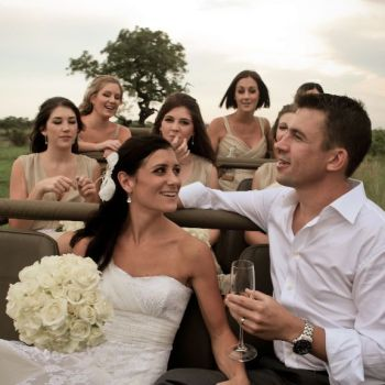 Savanna Private Game Lodge Wedding Drive