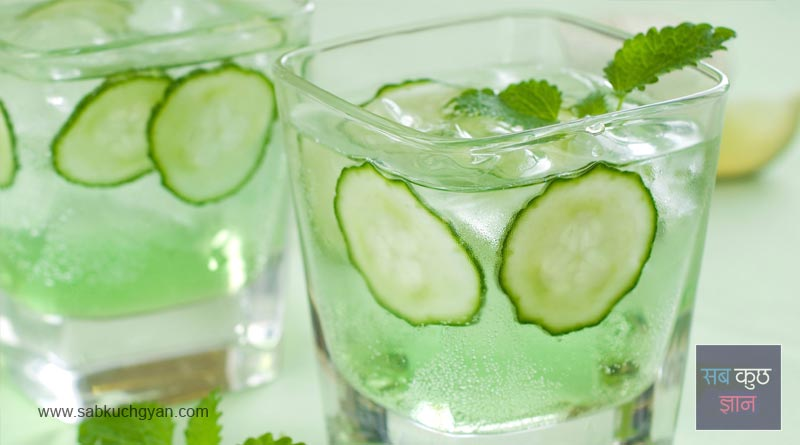 Cucumbers and water