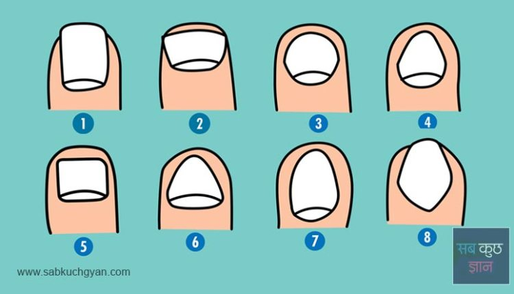 know your personality from nails, different type of nails, nails personality