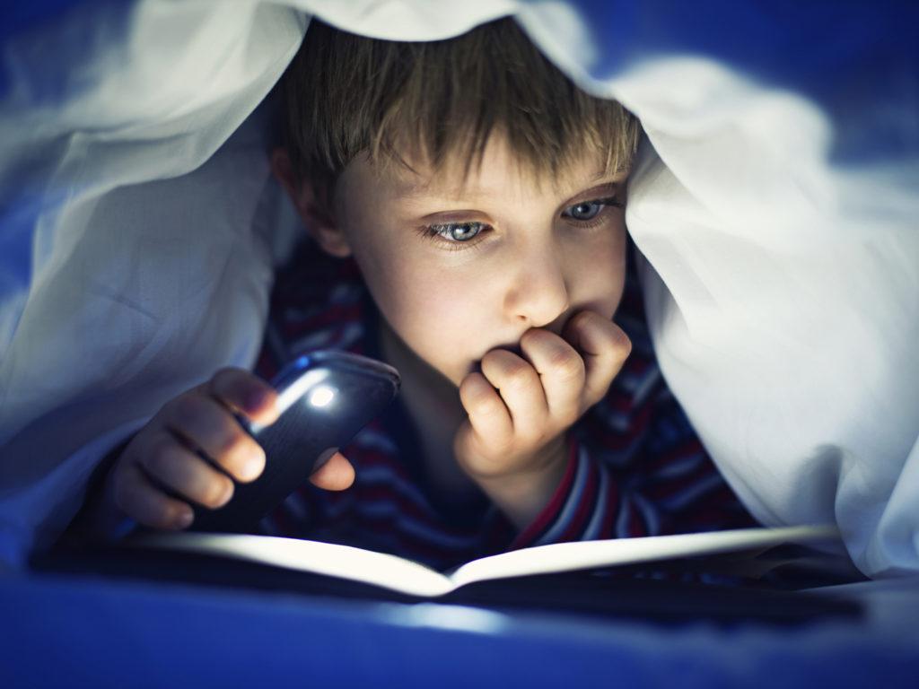 children sleep late at night
