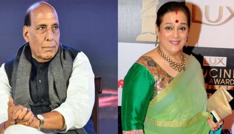 Poonam Sinha and Rajnath Singh in Lucknow to face tough competition
