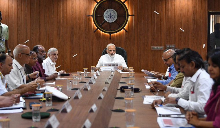 pm-convenes-emergency-meeting-in-view-of-6-serial-blasts-in-sri-lanka