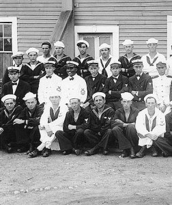 African American Chief Petty Officer Carpenters Unit at Naval Training Station Newport c. 1917