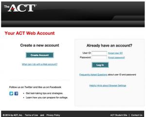 Act Scores Account Login Portal