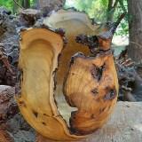 jarrón decorativo en madera reciclada Sabores de Origen
