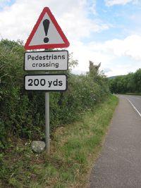 Warning SignPedestrians  Roader's Digest: The SABRE Wiki