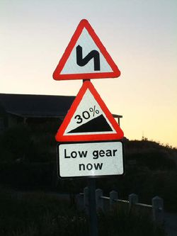 Image result for road sign showing steep gradient