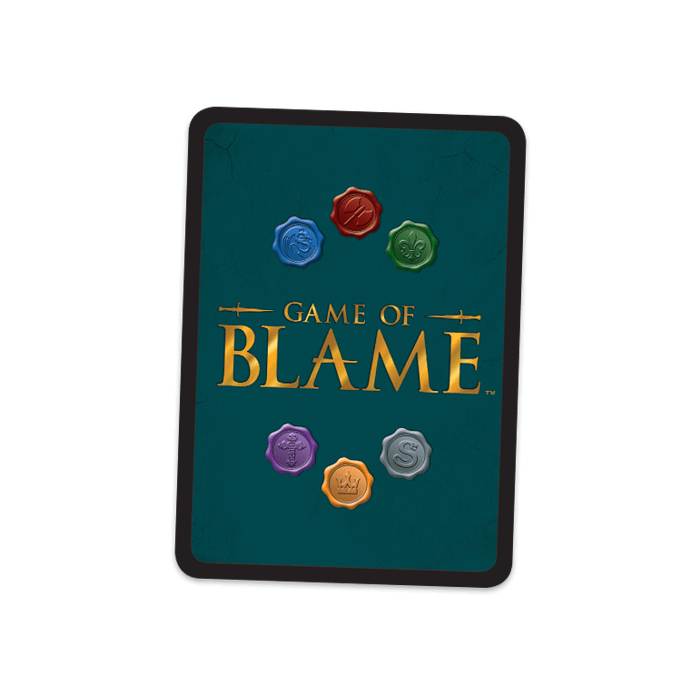 Back of Game of Blame Card