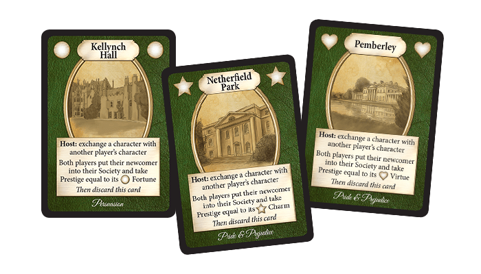 Property cards from Jane Austen's Matchmaker Chapter Two